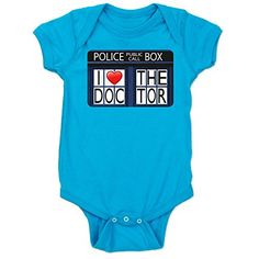 doctor who baby clothes tardis love #onesie #BabyShower #BabyClothes #DoctorWho #RaggedyFan