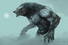 Werewolf concept art.