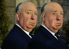 Alfred Hitchcock and his brother .... gradient mesh ilustrator cs7.