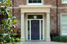 Tuscan style – Mediterranean Home Decor Front Door Porch, Front Porch Design, Front Door Entrance, House Front Door, House Entrance, Front Doors, House Columns, Porch Columns, Georgian Doors