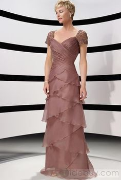 A-Line/Princess V-neck Floor-Length Organza Charmeuse Lace Mother of the Bride Dresses With Ruffle Beading Mother Of Groom Dresses, Mothers Dresses, Mother Of The Bride, Mob Dresses, Dresses Online, Formal Dresses, Dresses 2014, Wedding Party Dresses, Bridal Dresses