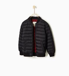 Lightweight quilted bomber jacket - Quilted-OUTERWEAR-BOY | 4-14 years-KIDS…