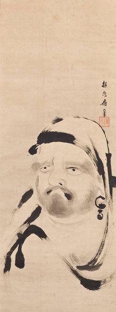 Daruma by KANO Tanshin (1785~1835), Japan http://onizazen.collectrium.com/104.577.781/images/