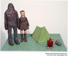 Ceramics Pattie Chalmers - Brownie Meets Mud Man