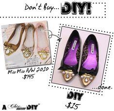 Dont Buy, DIY! Miu Miu Rhinestone Embellished Flats Tutorial