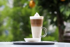 Caffé Latte by mezzalunayca  IFTTT 500px Break Brown Caffeine Coffee Cream Delicious Drink Hot Latte Milk Morning Outside White