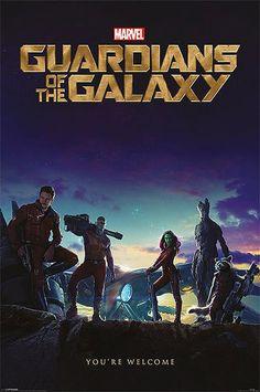 Póster Guardianes de la Galaxia. You're Welcome Estupendo póster con la imagen de los protagonistas de la nueva película de Marvel Guardianes de la Galaxia.