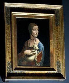Leonardo da Vinci, Dama z gronostajem, ok. 1490 r., Muzeum Książąt Czartoryskich w Krakowie