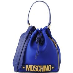 Moschino Handbag (535 AUD) ❤ liked on Polyvore featuring bags, handbags, shoulder bags, bright blue, purse shoulder bag, shoulder handbags, moschino purse, blue handbags and blue hand bag