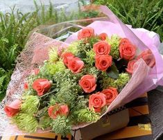 ❤️Virágcsokrok All Flowers, Floral Wreath, December, Wreaths, Table Decorations, Rose, Nature, Pink, Beautiful