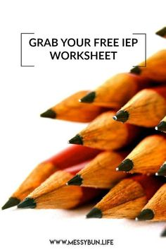 Get prepped for your IEP meeting, record important details and points to follow up on with this free worksheet. #iep #autism #specialeducation