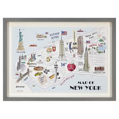 Buy bold noble british isles map framed silkscreen print 63 x buy alice tait new york map framed print 34 x 47cm online at johnlewis gumiabroncs Images