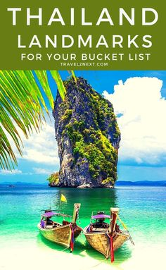 20 Thailand landmarks for your bucket list. The one that stands out is an island that shot to worldwide fame when it was the filming location for The Man with the Golden Gun. Travel Guides, Travel Tips, Travel Advise, Travel Books, Travel Journals, Travel Plan, Travel Packing, Thailand Travel, Asia Travel