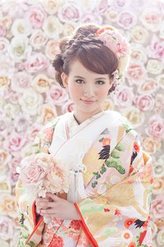 cute but traditional kimono bride