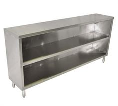 "JOHN BOOS Dish Cabinet, 72"" long, 15"" wide, 35-1/2"" high, 18 ga. type 300 stainless steel top, stainless steel body, open base with 18 ga. type 300 stainless steel mid-shelf, stainless steel legs, gussets & feet @$627.91"