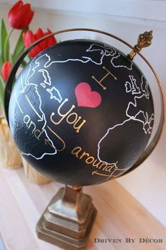 Perfect for a loved one's birthday or a Valentine's Day present, this globe will show your special someone that your love spans the entire world. Awww.