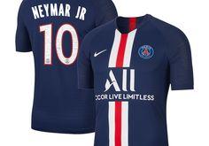Nike Neymar Santos Paris Saint Germain Navy 2019 20 Home Authentic Vapor Match Player Jersey . Kids Uniforms, Football Uniforms, Football Kits, Neymar Psg, Neymar Football, Nike Football, Jordan Jersey, World Soccer Shop, Saints