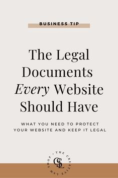 The Legal Documents Every Website Should Have — The Creative Law Shop® - Finance tips, saving money, budgeting planner Business Advice, Business Website, Business Planning, Online Business, Business Events, Web Design, Learning Tips, Motivation, Wordpress
