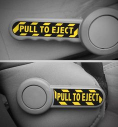 """""""Pull to Eject"""" decals for Jeep JK"""