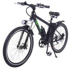 Goplus Electric Bicycle Sports Mountain Bike Variable Speed Lithium Battery w/Cup Holder, Electric Mountain Bikes