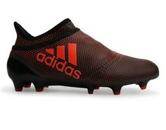 e54b37fad235b adidas Kids X 17+ Purespeed FG Core Black Solar Red Solar Orange
