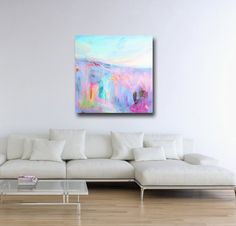 Large Wall Art Landscape Canvas Giclee Print from by Tamarrisart