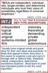 Independent, individualistic, single-minded