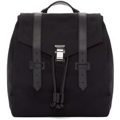 Proenza Schouler Black Nylon PS1 Backpack ($1,045) ❤ liked on Polyvore featuring bags, backpacks, nylon drawstring backpack, proenza schouler backpack, nylon zipper bag, day pack backpack and satchel backpack