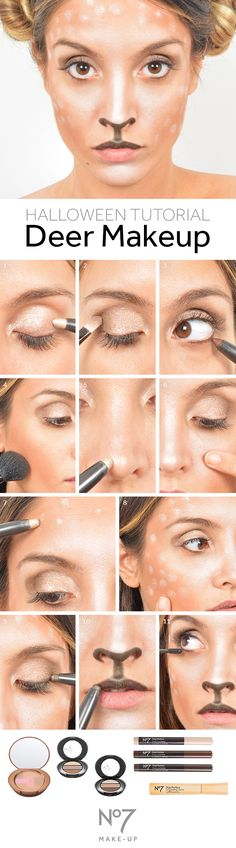 Boots No7 deer makeup tutorial: 1. Cover lids with No7 Shade & Define in…