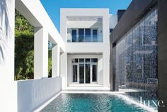 This Boca Raton residence features impressive water features.