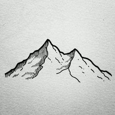 awesome Tiny Tattoo Idea - Minimalistic tattoo ideas - Mountains...