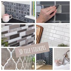 Tile Stickers Kitchen, Kitchen Backsplash, Sticky Tile, Marble Sticker, Sticky Back Plastic, Splashback Tiles, 3d Tiles, Tile Covers, Furniture Makeover