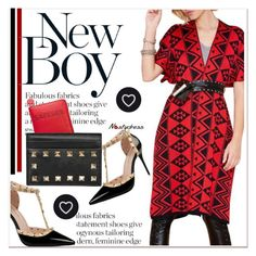 """Geometric Pattern Cardigan"" by paculi ❤ liked on Polyvore featuring Valentino and nastydress"
