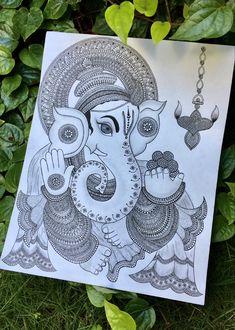 Ganesha, Mandala, Waves, Artwork, Design, Work Of Art, Auguste Rodin Artwork, Ganesh, Artworks