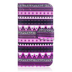 Trendy lederen Aztec tribal flip case hoesje cover voor iPhone 4/4S