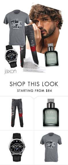 """jax"" by oleand3r ❤ liked on Polyvore featuring Philipp Plein, Calvin Klein, Patek Philippe, Dolce&Gabbana, men's fashion and menswear"