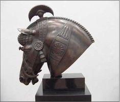 Horse Sculpture, Sculpture Clay, Sculptures, Equestrian Statue, Horse Armor, Cradle Of Civilization, Ancient Mesopotamia, Equine Art, Horse Head