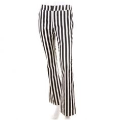 $31.96 Fashion Balck and White Stripe Pattern Wide Leg Pants For Women