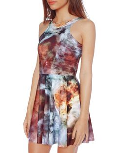 Galaxy Pearl 2.0 Reversible Skater Dress (WW $85AUD / US $68USD) by Black Milk Clothing