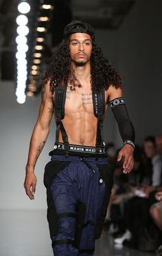 black male models with long hair