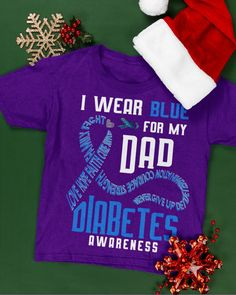 I wear blue for my dad Diabetes awareness - Purple #fathersdaycake #fathersdaymoment #fathersdaygiftidea fathers day crafts, homemade fathers day gifts from kids, fathers day gifts ideas from wife, dried orange slices, yule decorations, scandinavian christmas Homemade Fathers Day Gifts, Fathers Day Cake, First Fathers Day Gifts, Diy Father's Day Gifts, Fathers Day Crafts, Diabetes Awareness, Yule Decorations, Grandpa Gifts, Orange Slices