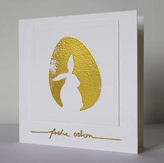 Osterkarte / easter card, Alexandra Renke, embossing