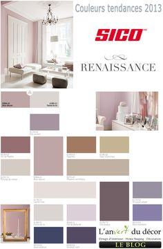 Sophia's Purply Room: Modern Interior Paint Colors and Home Decorating Color Schemes, Color Design Trends 2013 Modern House Design, Modern Interior Design, Gray Interior, Home Design, Color Combinations Home, Color Combos, Colour Trends, Deco Design, Design Trends