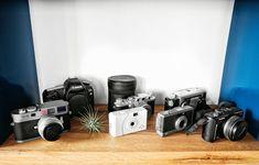 David Karp's collection of cameras / photo by Ben Hoffmann