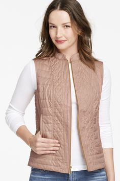 Johnston & Murphy Mixed-Quilting Vest: light-weight mix of quilting patterns gives it a flattering shape to compliment any outfit.