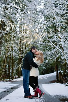 Nick & Erica | Mt. Baker Engagement Session #snow, #mountains