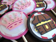 Princess and Pirate Party Cupcake Toppers  Set by ScrapYourStory, $15.00