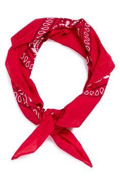 Saint Laurent Foulard Bandana En Coton A Imprime Cachemire Net A