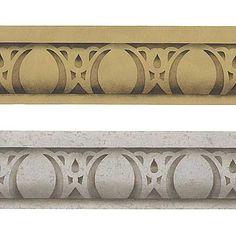 Furniture Stencils | Easy Egg & Dart Stencil | Royal Design Studio