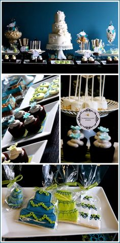 #wedding too! Not just for bridal shower! Bridal Dessert Table + me = LOVE!